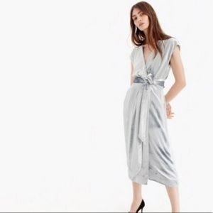 J. Crew Collection Frida Gray Velvet Midi Dress